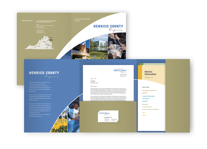 Henrico EDA pocket folder with inserts