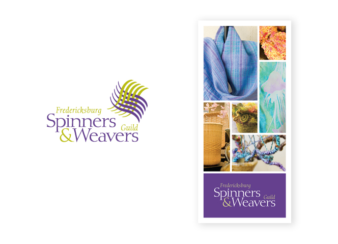 Fredericksburg Spinners & Weavers Guild logo and rack card