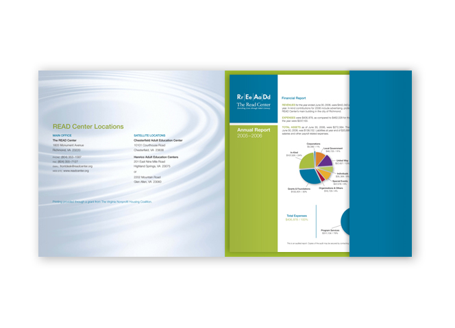 READ Campaign Brochure Spread with Annual Report insert