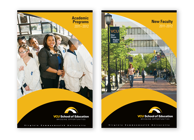 VCU School of Education Brochure covers